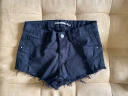 Short jeans preto - p