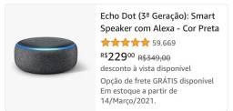 Echo dote Alexa 229.00 só Amazon