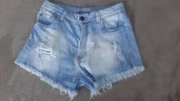 Short Jeans Hot Pants Destroid tamanho 40