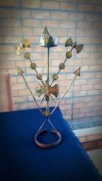 Linda escultura em bronze de orixas, ideal para decorações
