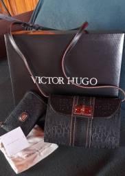 Bolsa e Carteira Victor Hugo Nova Original