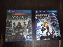 Jogos PS4 Assasin's Creed Syndicate e Ratchet Clank