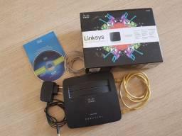 Roteador e Modem 2 em 1 ADSL2+ Linksys N300 Cisco X1000