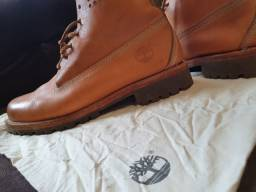 Bota Couro Timberland Original Yellow Boot 6 Perf Collar