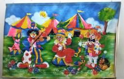 Circo: Painel de decoração pintados à mão