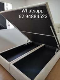 Título do anúncio: Cama box baú queen size(158×198) direto da fábrica pronta entrega//