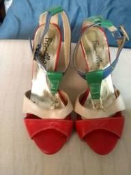 Sandalha mas bota cano médio n.36