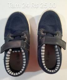 Sapatos menino -tam 17 até 24