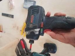 Parafusadeira com impacto Bosch e Wesco 12v 600 Reais