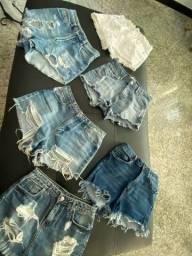 Shorts jeans (todos por 20 reais)
