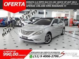 Hyundai Sonata 2.4 GLS V4 16v 182cv Aut Top de Linha Interior Vinho + Teto Solar Baixa KM