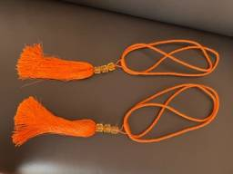 Título do anúncio: Abraçadeira de cortina laranja
