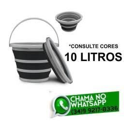 Título do anúncio: Balde Retrátil Dobrável 10 litros - Fácil de Guardar * Fazemos Entregas