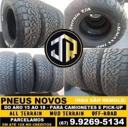 Título do anúncio: Pneus Novos p/ Camionetes Aro 15 ao 18