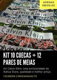 Título do anúncio: Kit 10 cuecas + 12 pares de meias