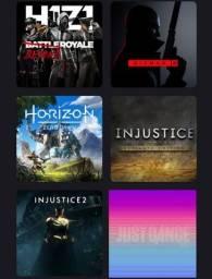 Título do anúncio: PS4 com todos os cabos e jogos.