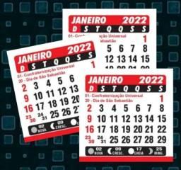 Título do anúncio: 100 Calendários 5x5cm 2022 DESTACADOS