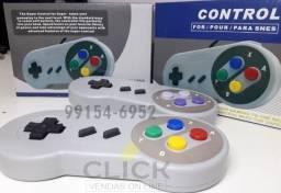Título do anúncio: Controle USB Retrô Plug e Play, estilo Super Nintendo, unidade