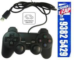 Joystick Game 2 Shoks Controle PC Usb 2.0 Litgh Gamepad 1 Unidade
