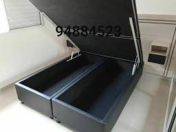 Título do anúncio: Box baú queen size produto novo de qualidade::