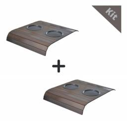 Frete Grátis- Kit 2 Esteira de braço do Sofá cor tabaco