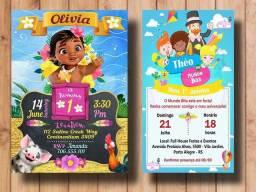 Convite de aniversário/ chá de bebê