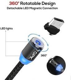 Cabo de carga magnética de carregamento rápido Cabo micro USB