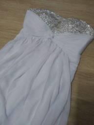 Título do anúncio: Vestido de noiva branco (novo)
