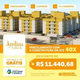 87: Jardins do Turu 3 entrada facilitada apartamento de 2 e 3 quartos