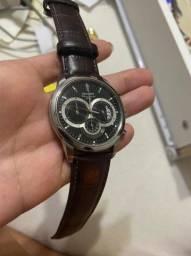Relógio Orient pulseira de couro legítimo