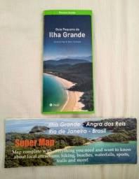 Kit com Livro Guia e Super Mapa Completo da Ilha Grande - RJ