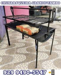 Título do anúncio: veja as fotos! churrasqueira grande tambo  brinde 2 pacote Carvão  #@#@
