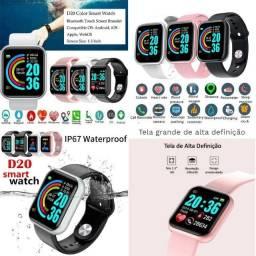 Inteligente Smartwatch Relogio Redondo d18 esporte saúde resistente a água