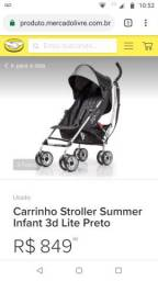 Carrinho Stroller Summer Infant 3d Lite Preto