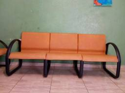 Par de sofás laranja