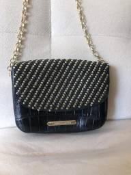 Bolsa com alça metalizada