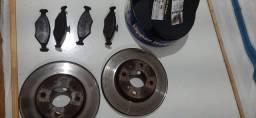 Disco de freio ventilado e pastilhas fiat Palio e Siena 1.0