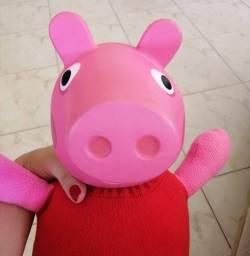 Peppa Pig - Cabeça emborrachada, corpo de pelúcia. Modelo original