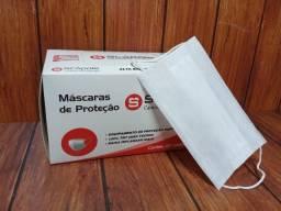Máscara TNT - Descartável - 3 Camadas - Com Clip Nasal