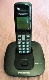 Jogo Telefones S/ Fio Panasonic (1) Base e (2) Extensões Mod. KX-TG6 - Usado