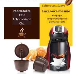 Kit com 3 Cápsulas reutilizáveis para cafeteira Dolce Gusto (Nescafé) ou para Nespresso
