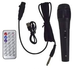 Caixa de Som Kimiso Karaoke Wireless Bluetooth QS-2601 6.5''
