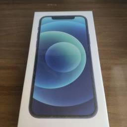 iPhone 12 64 GB azul lacrado. Troco!!!