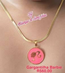 Gargatilha da barbie semijoias