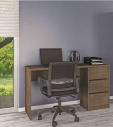 Título do anúncio: Mesa de escritório compacta com 3 gavetas L1360 Nova pronta entrega