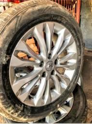 Jogo de rodas Azera 2011 aro 17 (pneus em bom estado montada) $1870,00