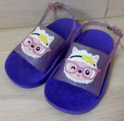 Sandália infantil slide nina luelua ovelha