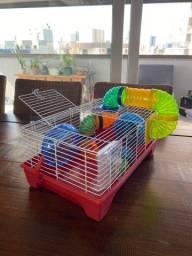 Gaiola grande completa para Hamster