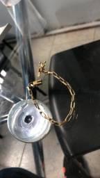 Pulseira feita à mão de ouro de moeda antiga