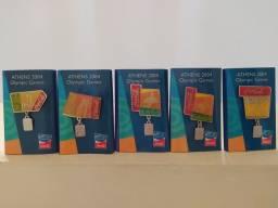 Título do anúncio: (artigo para coleção) Kit com 20 broches Olympic Games Athens 2004 coca cola Japão
